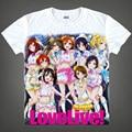 Lovelive! косплей Печатных Yazawa Нико RinShort Рукавами Футболки Минами Kotori Love Live Необычные Тис Повседневная Топы футболка