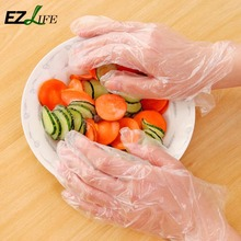 EZLIFE 100 pcs Plastic Disposable Gloves Restaurant Home Service Catering Hygiene HD0212