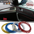 3m Car-Styling Interior Decorative Thread Stickers Brand Sticker Air Outlet Dashboard Decoration Strip Auto Decal on Car Styling