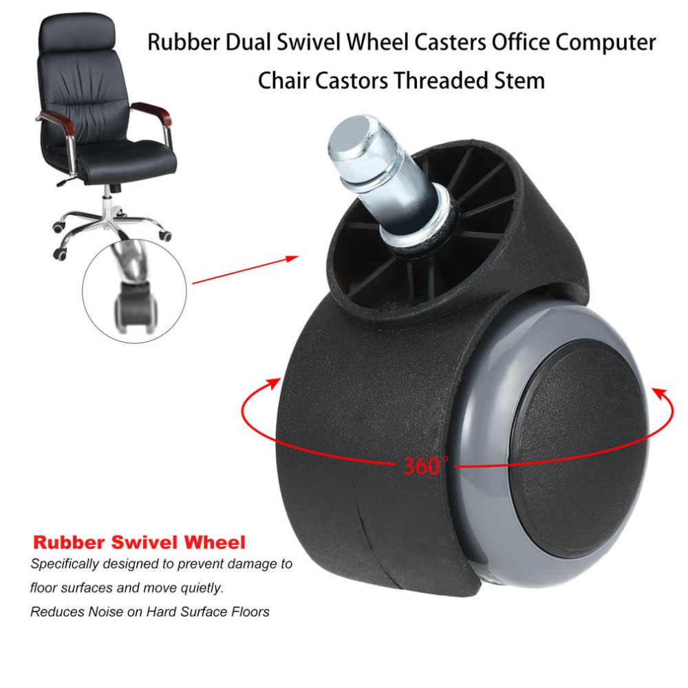New 360 Degree Casters For Furniture Universal Caster Chair Wheels Table Leg Adjustable Cart Wheel Home Office Computer Chair Aliexpress
