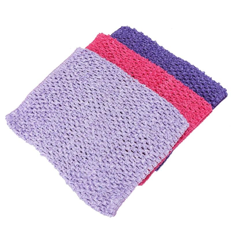 (12pcs/lot) Wholesale 9(20*23cm)Baby Girl Elastic Crochet Headbands Tutu Tube Tops Chest Wrap Wide Headwear Accessories 32Color