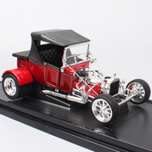 1/18 Road Signature classic cars vintage 1923 Ford T-Bucket t model top up Die cast Toy Vehicles scale car miniatures gift