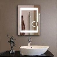 Современный 24*32 ''водостойкий противотуманный светодио дный яркий светодиодный свет зеркало с сенсорным выключателем для ванной комнаты св
