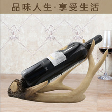 deer antlers resin wine racks retro furniture made of solid resin elegant manual home decorations ornaments cool style