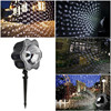 Oobest Christmas Decoration 4LED Light Lights Dynamic Snow Effect Lawn Lamp Halloween Indoor Outdoor Garden Wall