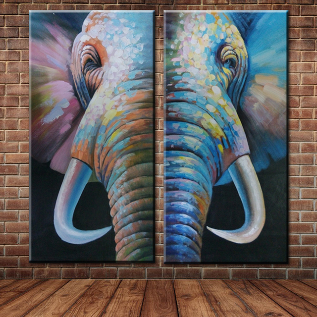 Moderne Grand Mur Photo Toile Art Africain Animal lphant Peinture