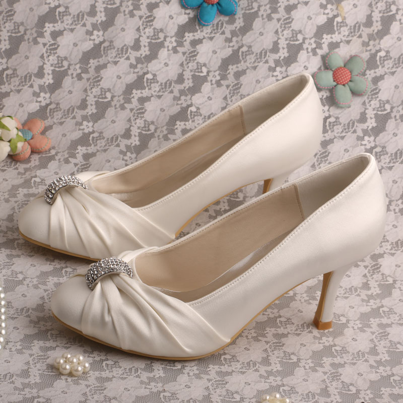 ФОТО Wedopus MW085 Women Bridal Wedding Shoes White Elegant Shoes Pumps