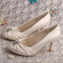 MW085 Wedopus Женщины Свадебные Свадебная Обувь Белый Элегантные Туфли Насосы