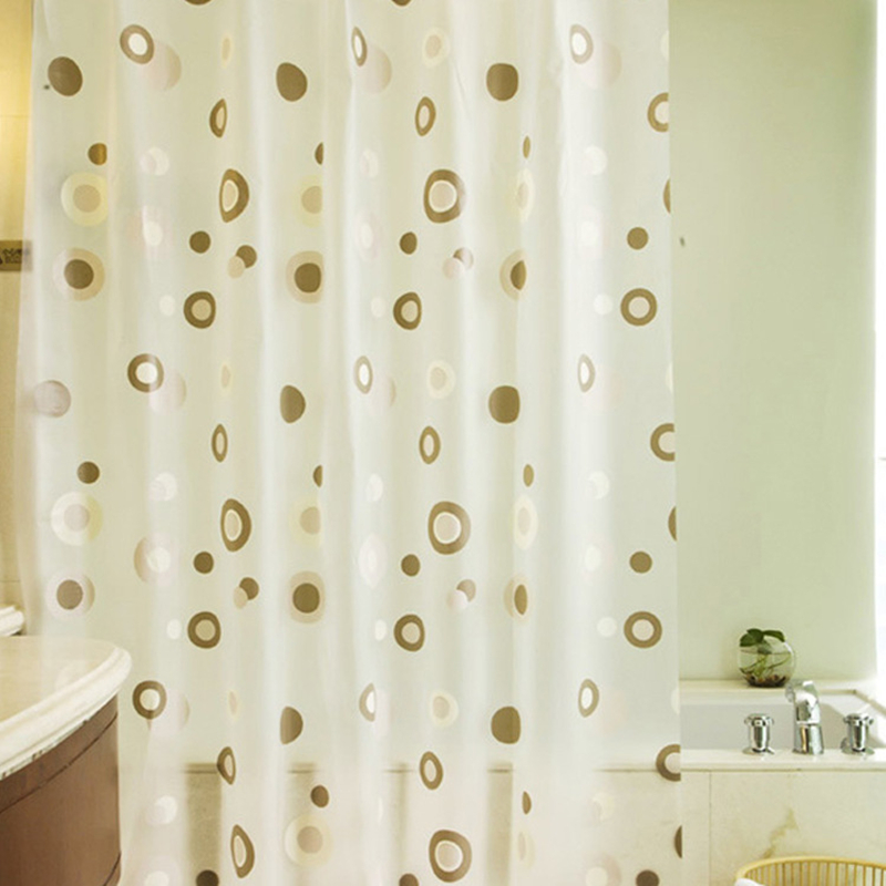 PEVA Shower Curtain Waterproof Mould Proof Home Bathroom Curtains ...
