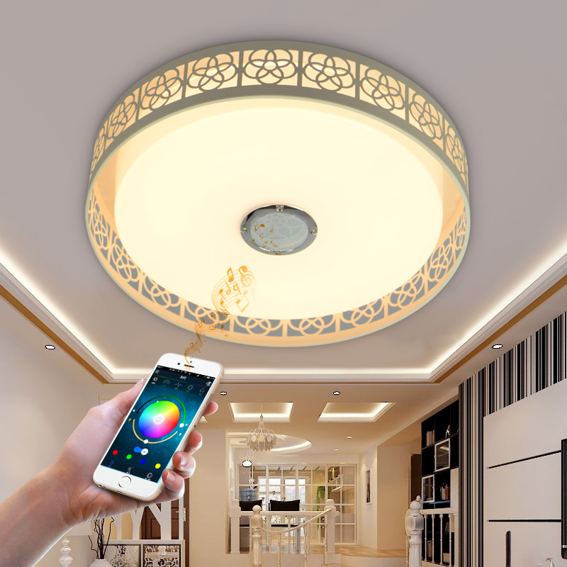 Bluetooth mobile phone music Promise dimming LED Ceiling Lights 32W