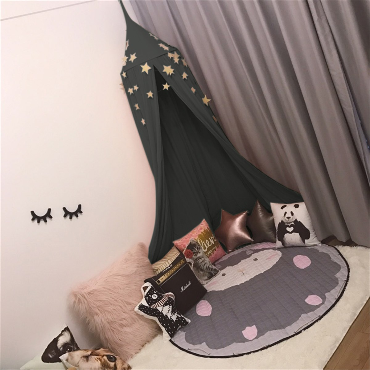 Dark Green Cotton Mosquito Net Baby Kids Reading Play Tents Canopy Bed Netting Valance Home Outdoor & Online Get Cheap Kids Bed Play Tents -Aliexpress.com | Alibaba Group