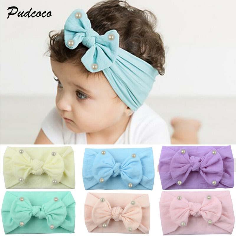 Cute Baby Toddler Girls Kids Bunny Rabbit Bow Knot Turban Headband Hair Band