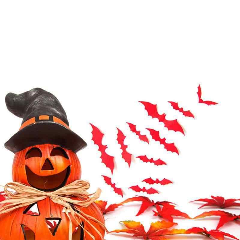 2018 Новый 2018 Новое прибытие Хэллоуин украшения стены label 12 шт. черный 3D DIY ПВХ стикера украшения