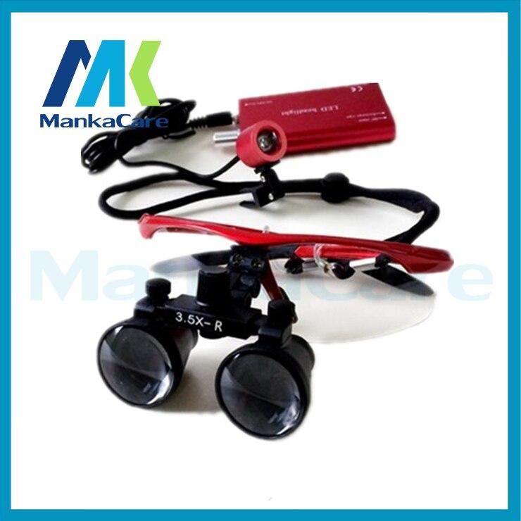 Boa Qualidade tempo 3.5X cirúrgica Dental Cirúrgica Lupas Binoculares Lupa  Óculos 100% original vidro óptico sem luz LED a919c16c3b