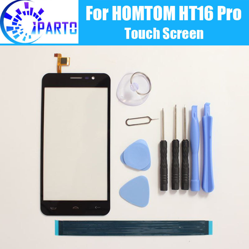 HOMTOM HT16 Pro Touch Screen Glass 100% Guarantee Original Digitizer Glass Panel Touch Replacement For HOMTOM HT16 Pro + Tools
