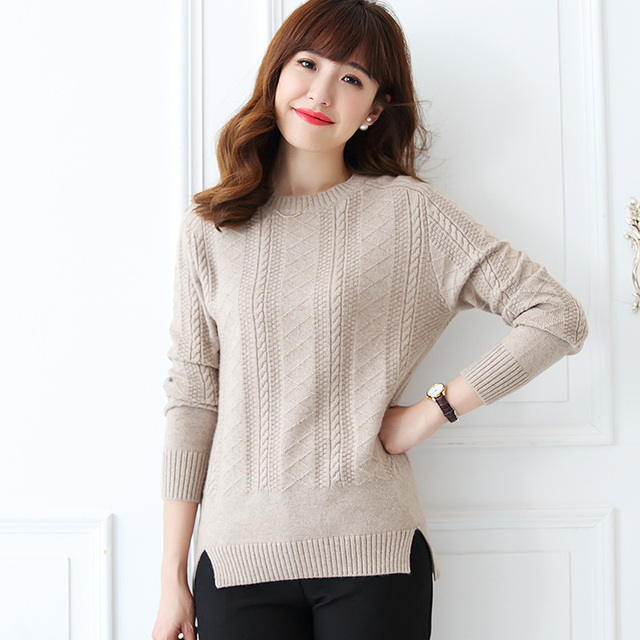 f858e9b91d New Arrival Women Sweaters 100% Pure Cashmere Knitting Pullovers Winter  Warm Oneck Thicker Knitwear Ladies Winter Warm Jumpers