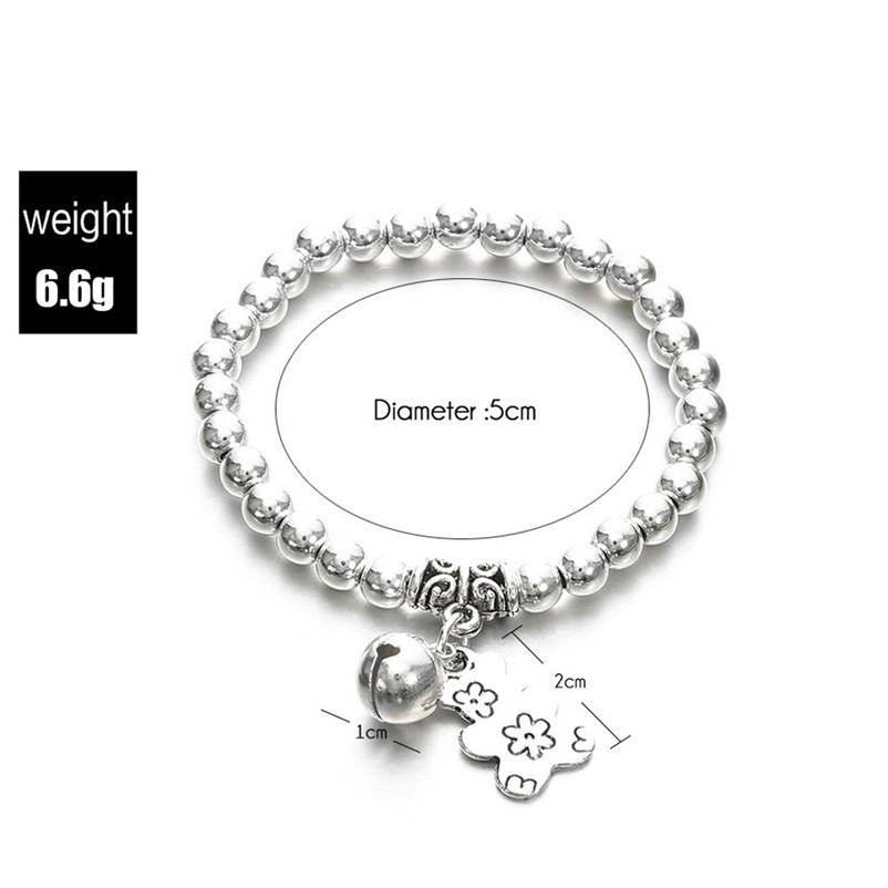 NEW Beads anklets for women Ankle Bracelet Double Chain Bell And Bear Anklet Jewelry Beach Sandals Pulseras Tobilleras Y17#N (5)