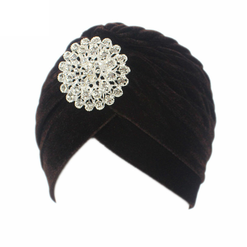5de412ca647 Haimeikang Retro Women Velvet Knit Turban Beanie Hats Headwraps 1920s  Gatsby Cap Flapper Hat Twist Pleated
