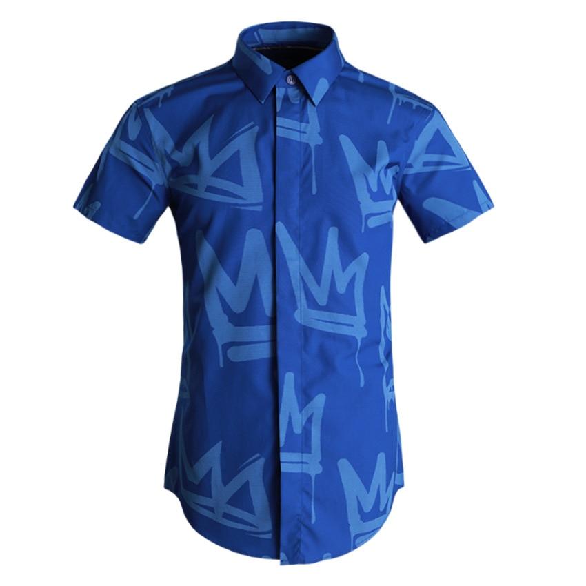 Deepocean Plus Size Men Shirt Fashion Cotton Shirt Men Clothes Brand Clothing Lesiure Business Shirts for