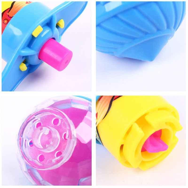 فلاش مصباح ليد الغزل العلوي البلاستيك الليزر جيروسكوب تضيء لعبة أطفال لعبة حفلة لصالح هدية لون عشوائي