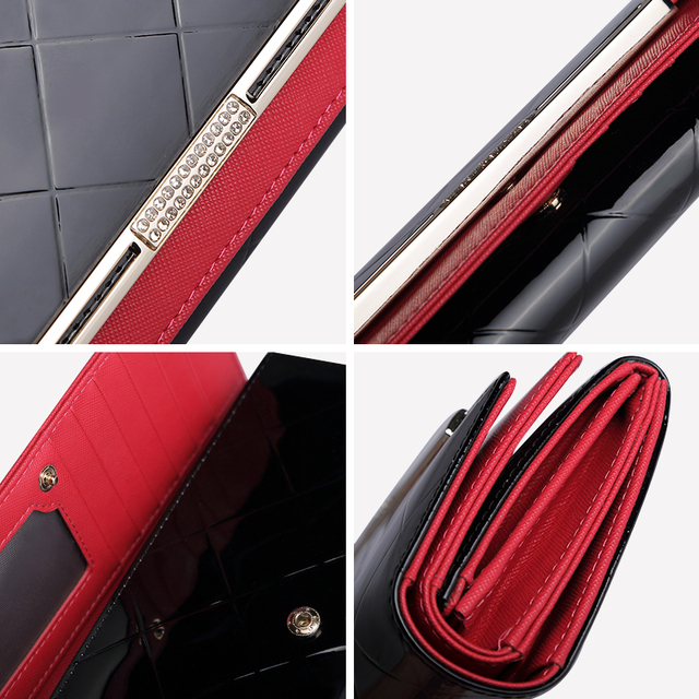Leather Women Wallet Female Long Clutch Lady Walet Luxury Brand Money Bag For Girls Coin Purse 4