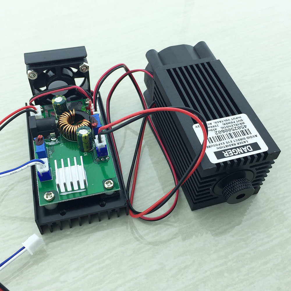 2.5W High Power Diode Focusable Blue Module 445nm 450nm 2500mW with TTL Driver for laser cutter engraver machine high quality 500mw 808nm 810nm ir laser module focusable infrared module with ttl driver board dc 12v input