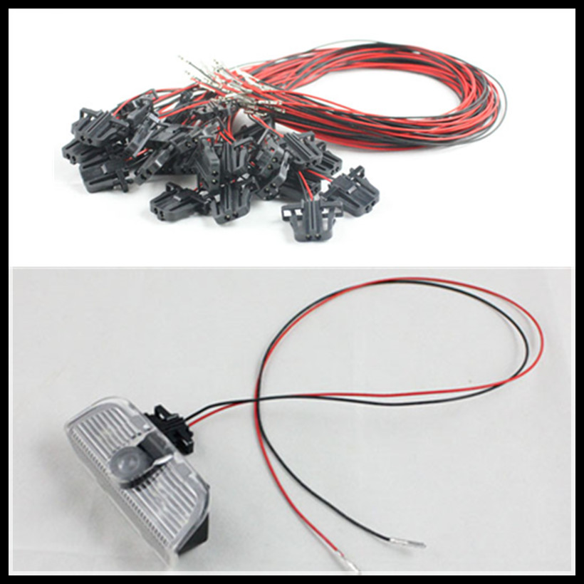 Fsylx Led Door Warning Car Logo Lights Cable Wire Wiring Harness For Vw Golf 5 6 7 Jetta Mk5 Cc