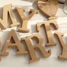 Zakka groceries wood lettre alphabet decoration creative DIY houten letters home decor