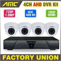 2015 New 4 Channel Full AHD DVR 720P HD Dome IR CUT CCTV 4ch Channel DVR