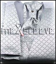 new arrive  formal wear waistcoat (vest+ascot tie+cufflink+handkerchief)