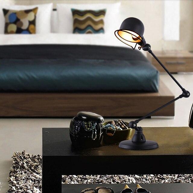 Гладкий Профиль Механические Настольные Лампы Высокой температуры Краска Абажур С LED E14 Держатель Лампы Высокого Качества