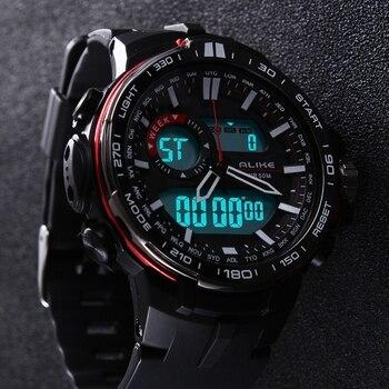 2018 New Brand ALIKE Casual Watch Men G Style Waterproof Sports Military Watches Shock Men's Luxury Analog Digital Quartz Watch