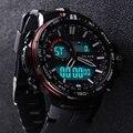 2016 nueva marca alike reloj ocasional de los hombres g estilo de choque impermeable de los deportes de relojes militares hombres de lujo de cuarzo analógico digital reloj