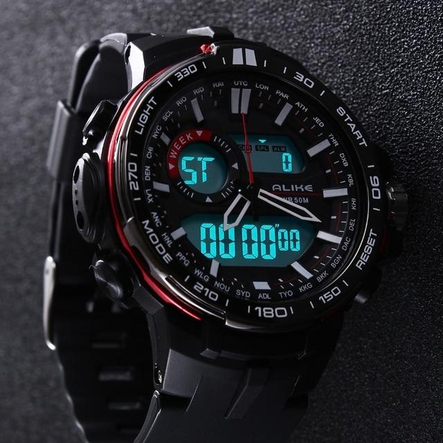 19b1f11a0 2019 جديد العلامة التجارية على حد سواء عارضة ووتش الرجال G نمط للماء  الرياضة العسكرية الساعات