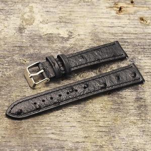 Ремешок для часов Onthelevel, из натуральной кожи страуса, в стиле ретро, 18 мм, 20 мм, 22 мм, с быстроразъемной пружиной