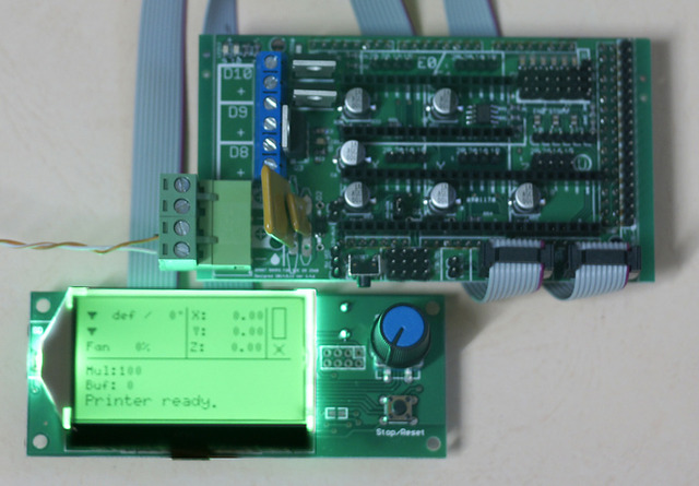 SMART Ramps + AZSMZ 12864 LCD (For Arduino Due Like RAMPS-FD or RADDS 3D print control panel control board