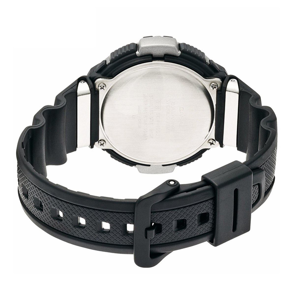 11 Possible Replacements On The View: Black Silicone Watch Strap Replacement For SGW 100 1VH 761