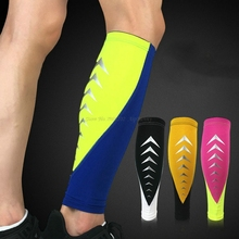 Reflective Shin Guards Calf Sleeves Sport Fitness Leg Brace Breathable Quick Dry Compression Football Soccer Shin Brace Gaiters цена
