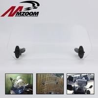 Motorcycle Parts Adjustable Clip On Windshield Extension Spoiler Windscreen Air Deflector For BMW Honda Suzuki Yamaha Kawasaki