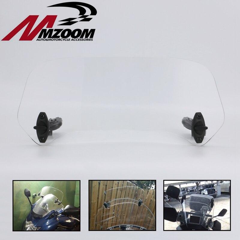 Pièces de moto Clip réglable sur l'extension de pare-brise Spoiler pare-brise déflecteur d'air pour BMW Honda Suzuki Yamaha Kawasaki