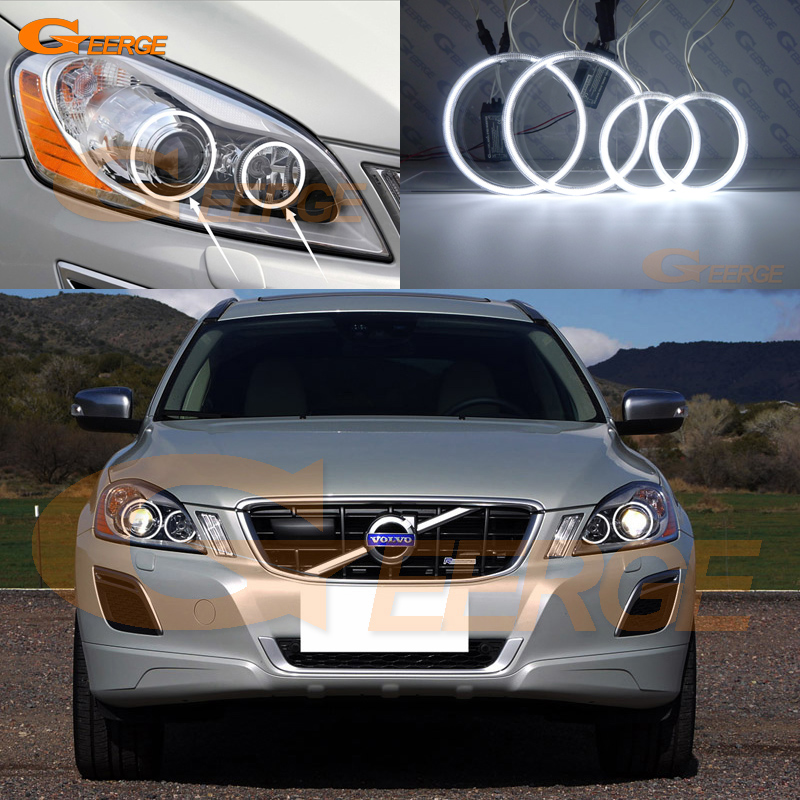 For Volvo XC60 2009 2010 2011 2012 2013 XENON HEADLIGHT Excellent angel eyes Ultra bright illumination CCFL Angel Eyes kit for mazda 3 mazda3 bl sp25 mps 2009 2010 2011 2012 2013 excellent ultra bright illumination ccfl angel eyes kit