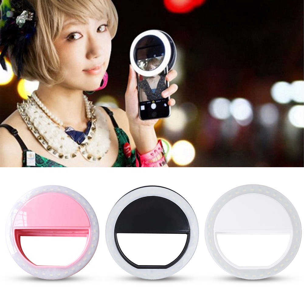 Praktis dan Portable Selfie Flash LED Camera Camera Light Cincin Untuk Apple Iphone Samsung HTC