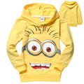 Clearance 2016 boys and girls despicable me 2 minion Long Sleeve t-shirts kids baby children t shirts child hoodies clothing