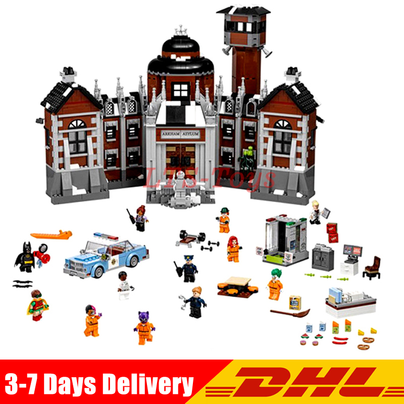 Compatible Legoings 70912 Lepin 07055 1628pcs Batman Movie THe Arkham`s Lunatic Asylum Set Building Blocks Bricks Toys lepin 07055 1628pcs genuine batman movie series the arkham s lunatic asylum set building blocks bricks toys for children 70912