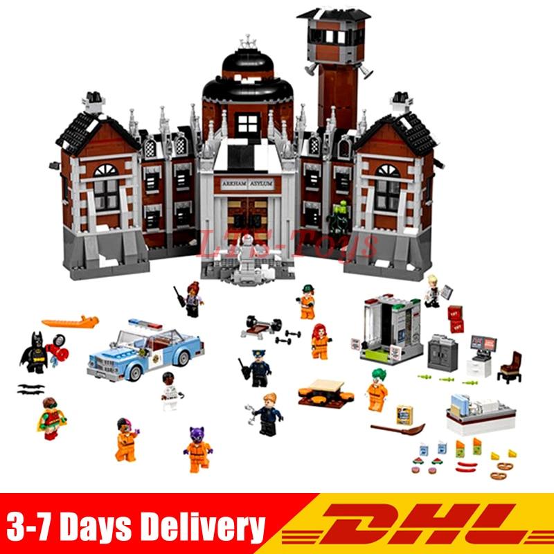 IN Stock Lepin 07055 1628pcs New Batman Movie Series THe Arkham`s Lunatic Asylum Set Building Blocks Bricks Toys 70912 batman volume 2 joker s asylum