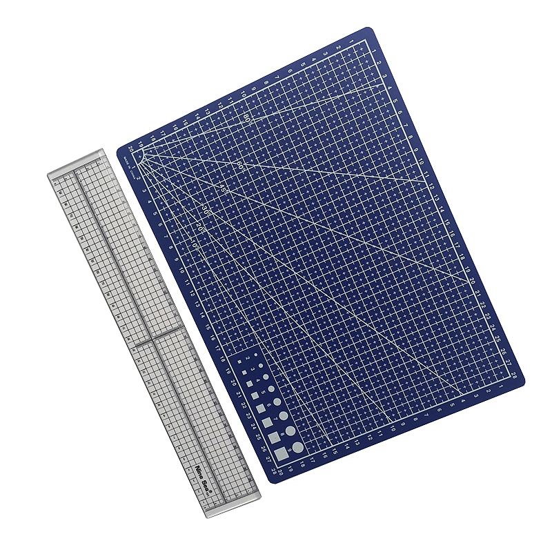 Cutting Mat Patchwork Ruler Combination Of Sales Size Of Cutting Pad A4 Ruler Size 30cm * 5cm Student School Office Stationery