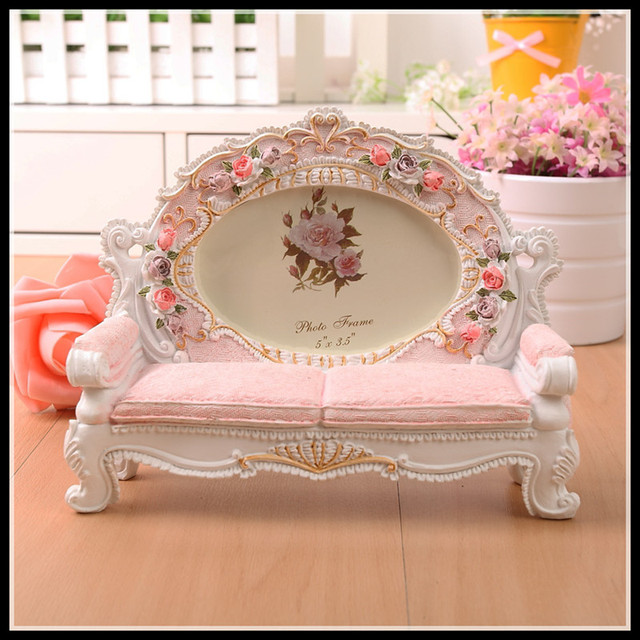 ElimElim 5 inch Resin Europe Photo Frames for Picture Cute Desk ...