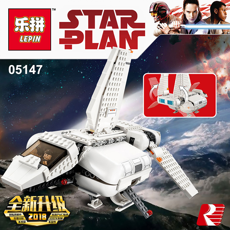 Lepin 05147 Star Gifts Wars Imperial Landing Craft Compatible Legoing 75221 Model Building Blocks Toy Funny Christmas