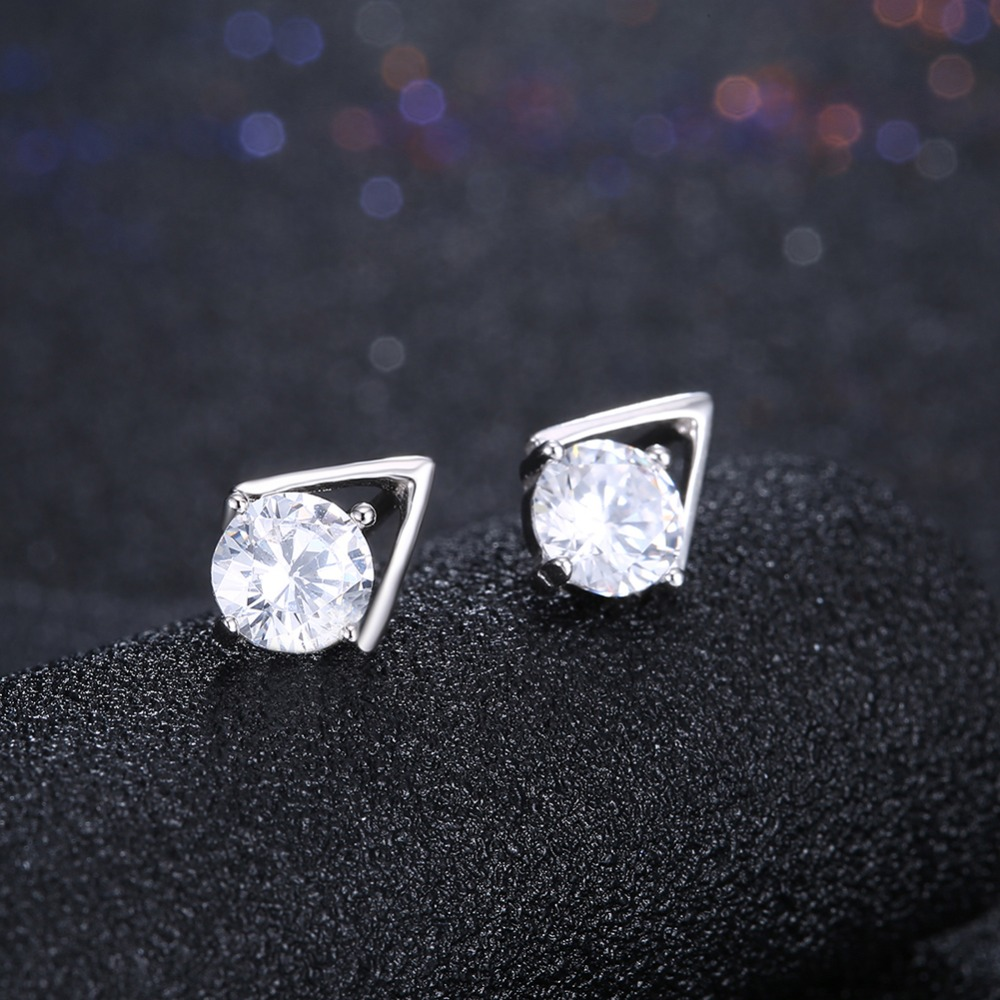 INALIS Fashion Ear Studs Beautiful 925 Sterling Silver Spike Stud Earring with Zircon Earrings for Women Jewelry Party gift