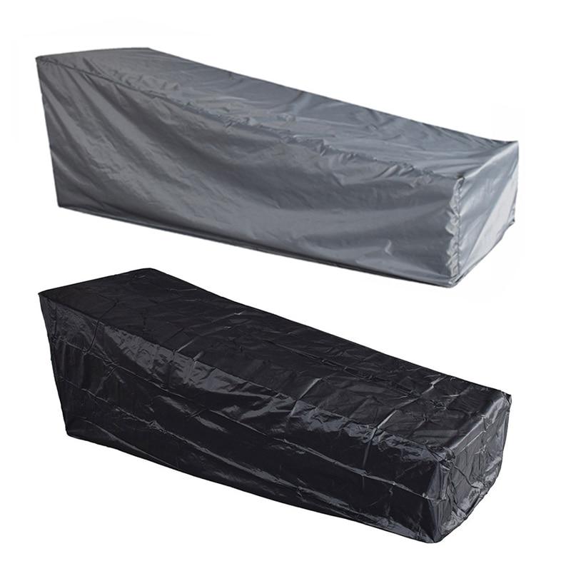 Meubelen Strandstoelen Zwart/grijs Bescherming Tas Polyester Lounge Stoel Stofkap Waterdichte Outdoor Tuin Patio Rijk En Prachtig